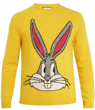 Gucci - Bugs Bunny Wool Sweater - Mens - Yellow