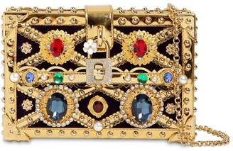 Dolce & Gabbana Dolce Box Jeweled Clutch