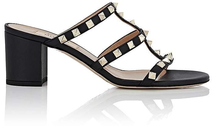 Valentino Garavani Women's Rockstud Metallic Leather Sandals