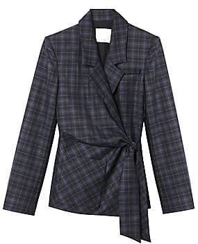 Tibi Women's Marvel Plaid Wool-Blend Suiting Jacket