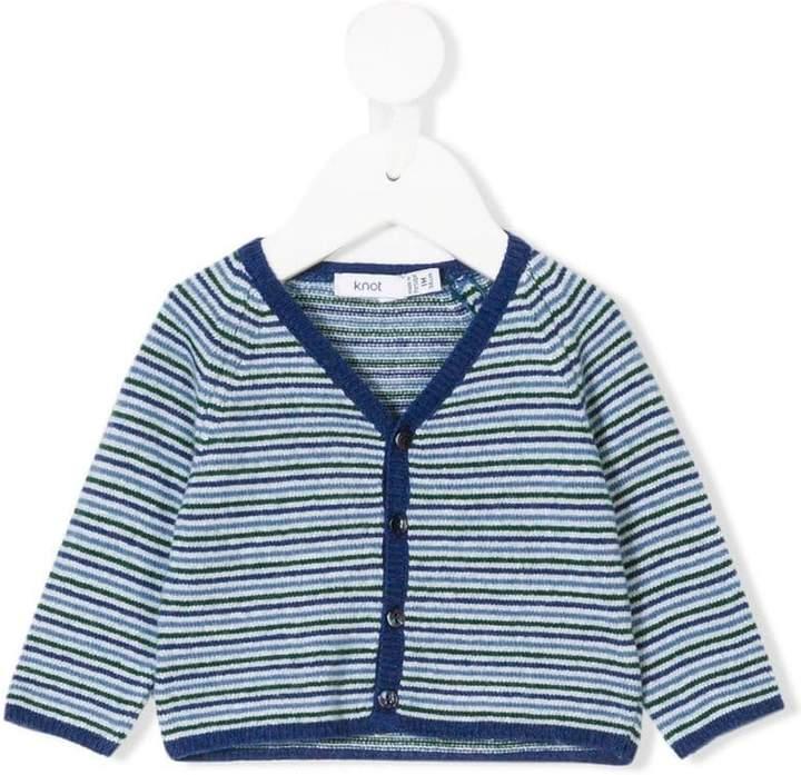 Knot striped cardigan
