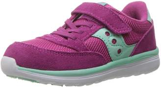 Saucony Kids Baby Jazz Lite Running Shoes, Pink/Turq