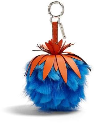 Fendi Pineapple fur-embellished key fob