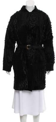 Preen by Thornton Bregazzi 2017 Leather Knee-Length Coat