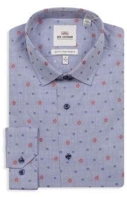 Ben Sherman Slim-Fit Wrinkle Free Cotton Dress Shirt