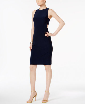 Betsy & Adam Cutout Contrast-Lined Sheath Dress $179 thestylecure.com