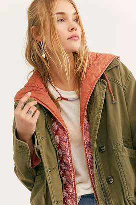 Free People Two-Fer Military Bomber Jacket