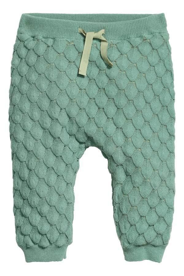 Textured-knit Cotton Pants