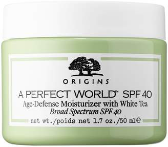 Origins A Perfect World SPF 40 Age-Defense Moisturizer with White Tea