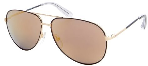 Marc by Marc Jacobs black and gold metal aviator sunglasses