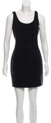 Charlotte Ronson Leather trim Shift Dress Black Leather trim Shift Dress