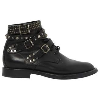 Saint Laurent Black Leather Boots
