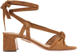 Aquazzura Suede Tie Sandals