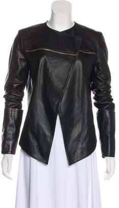 Thomas Wylde Open Front Leather Jacket
