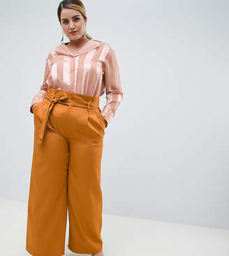 Unique 21 Hero Plus UNIQUE21 hero plus paperbag waist wide leg pants