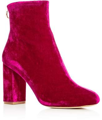 Joie Women's Saleema Velvet Block Heel Booties