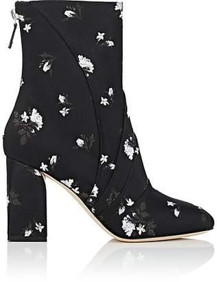 Zac Posen Women's Ines Floral Brocade Ankle Boots - Black