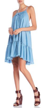 Romeo & Juliet Couture Romeo + Juliet Couture Denim Racerback Trapeze Dress