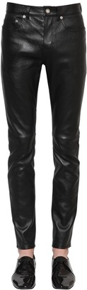 Saint Laurent 15.5CM CROPPED SKINNY LEATHER JEANS