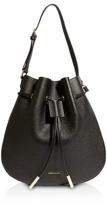 Karen Millen Medium Leather Drawstring Bag