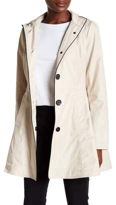 Laundry by Shelli Segal Hooded Bow Back Trench Coat