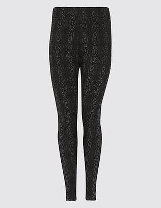M&S Collection CURVE Animal Print Skinny Leg Leggings