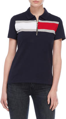 Tommy Hilfiger Flag Print Polo Shirt