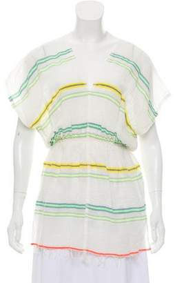 Lemlem Striped Short Sleeve Tunic