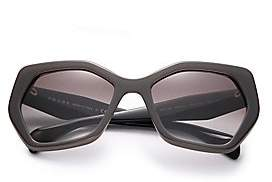 Prada Women's Angular 56MM Pentagonal Sunglasses