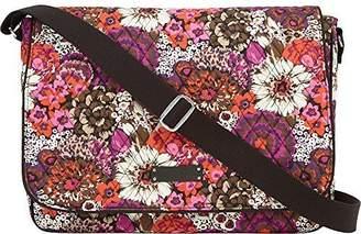 Vera Bradley Women's Laptop Messenger Rosewood Messenger Bag