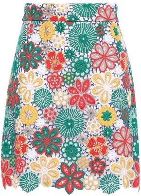 Dolce & Gabbana Guipure Lace-appliqued Tulle Mini Skirt
