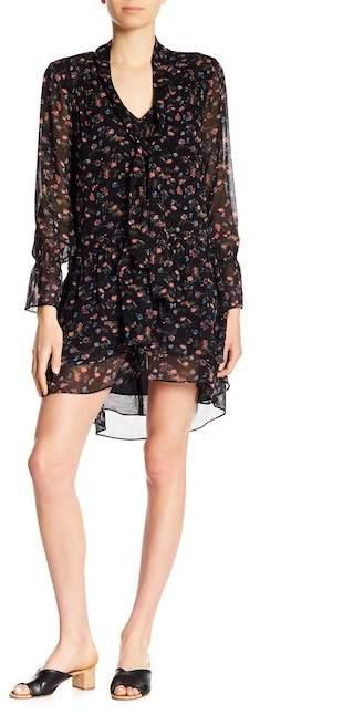 Jamira B Patterned Silk Dress