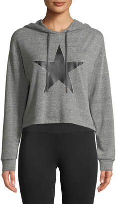 Marc Ny Performance Star-Print Cropped Hoodie
