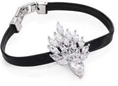 Fallon Monarch Mini Flame Crystal& Leather Bracelet