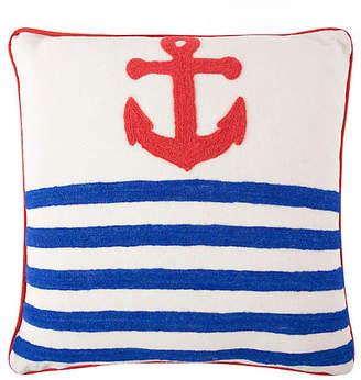 Thomas Paul Anchor Crewel 18x18 Pillow - Blue
