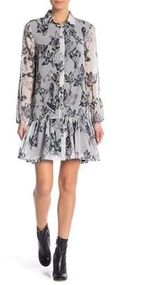 Religion Adorn Floral Shirt Dress