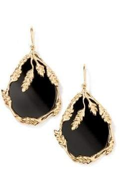 Aurelie Bidermann Francoise Onyx Drop Earrings