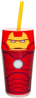 Zak Designs Marvel Retro Iron Man 14-oz. Straw Tumbler