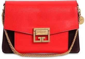 Givenchy (ジバンシイ) - GIVENCHY GV3 スモール レザー&スエード ショルダーバッグ
