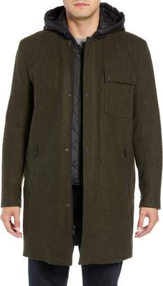 Andrew Marc Rowland Hooded Bib Lined Parka
