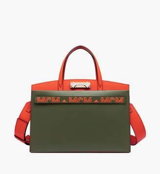 MCM Milano Tote Bag In Calfskin Leather