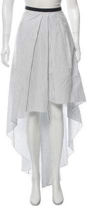 Brunello Cucinelli Striped High-Low Skirt