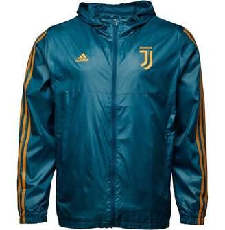 adidas Mens Juventus 3 Stripe Windbreaker Jacket Petrol Night/Blue Night