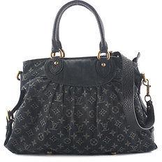 Louis VuittonLouis Vuitton Dark Blue Denim Monogram Neo Cabby MM Satchel Handbag BP4288 MHL