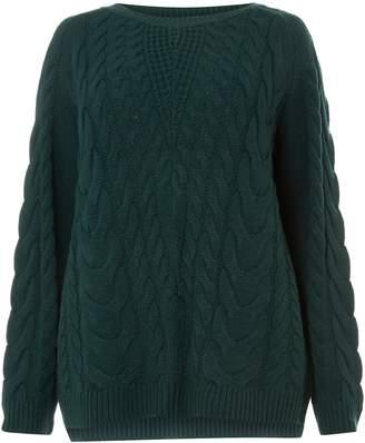 936252eef12d Dorothy Perkins Womens **Dp Curve Green Cable Knit Jumper