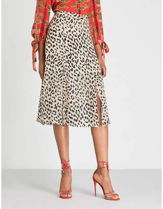 Alice + Olivia Alice & Olivia Athena leopard-print devoré skirt