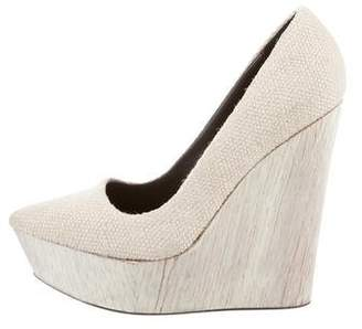 Theyskens' Theory Canvas Pointed-Toe Wedges