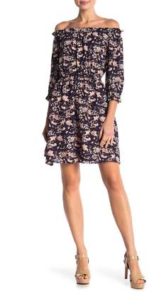 Cynthia Steffe CeCe by Off-the-Shoulder Ivy Floral Mini Dress