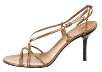 Gucci Metallic Multi-Strap Sandals Bronze Metallic Multi-Strap Sandals