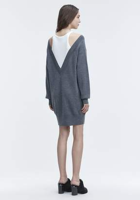 Alexander Wang BI-LAYER KNIT DRESS